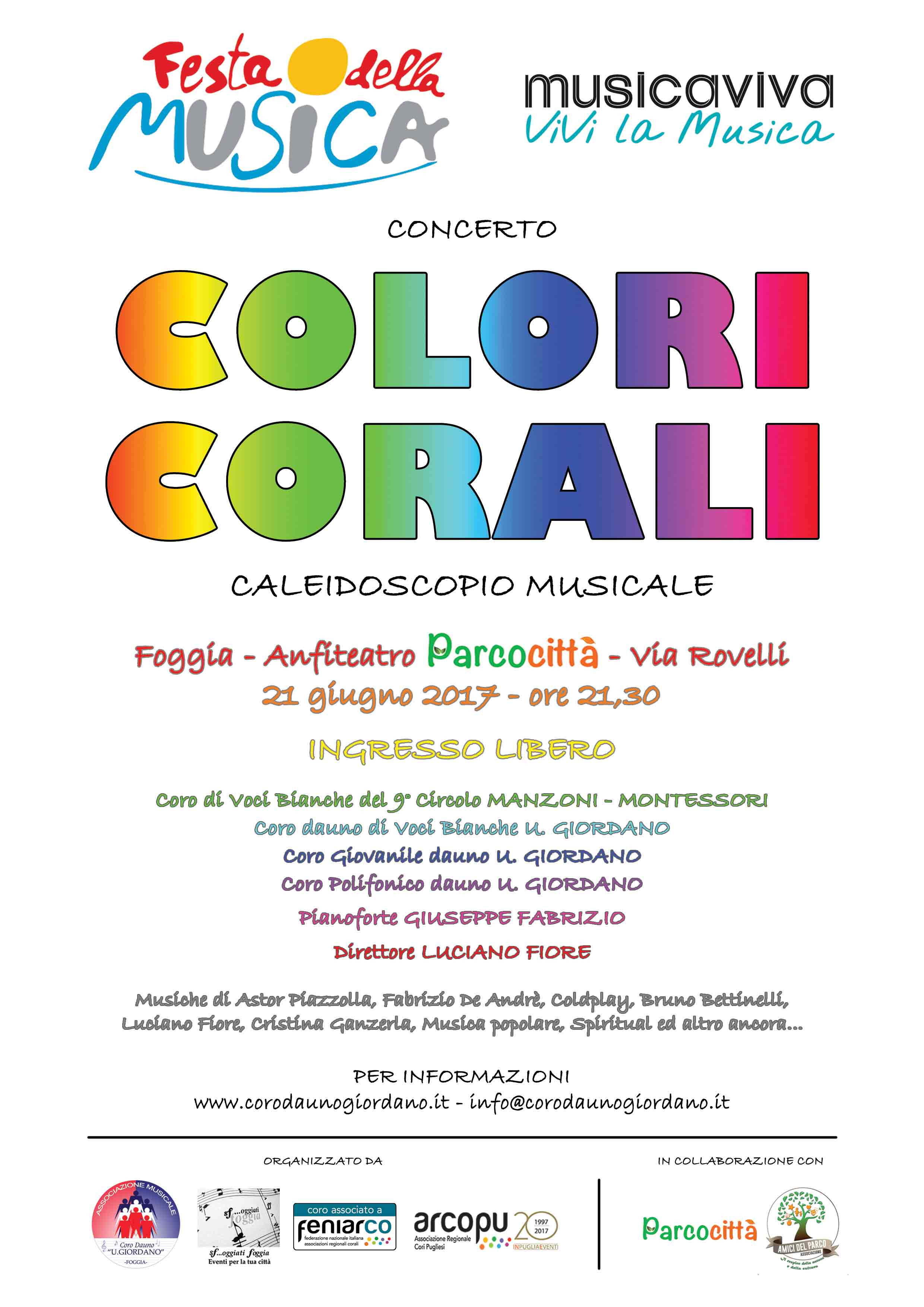 COLORI CORALI - FESTA DELLA MUSICA 2017
