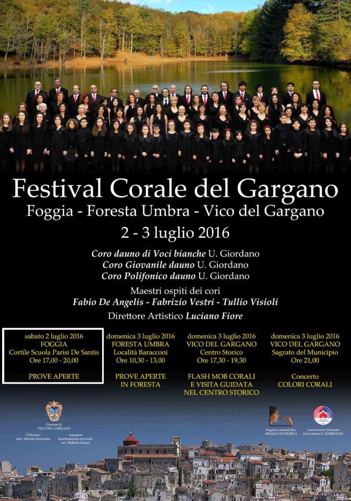 FESTIVAL CORALE DEL GARGANO 2016 - Prove aperte