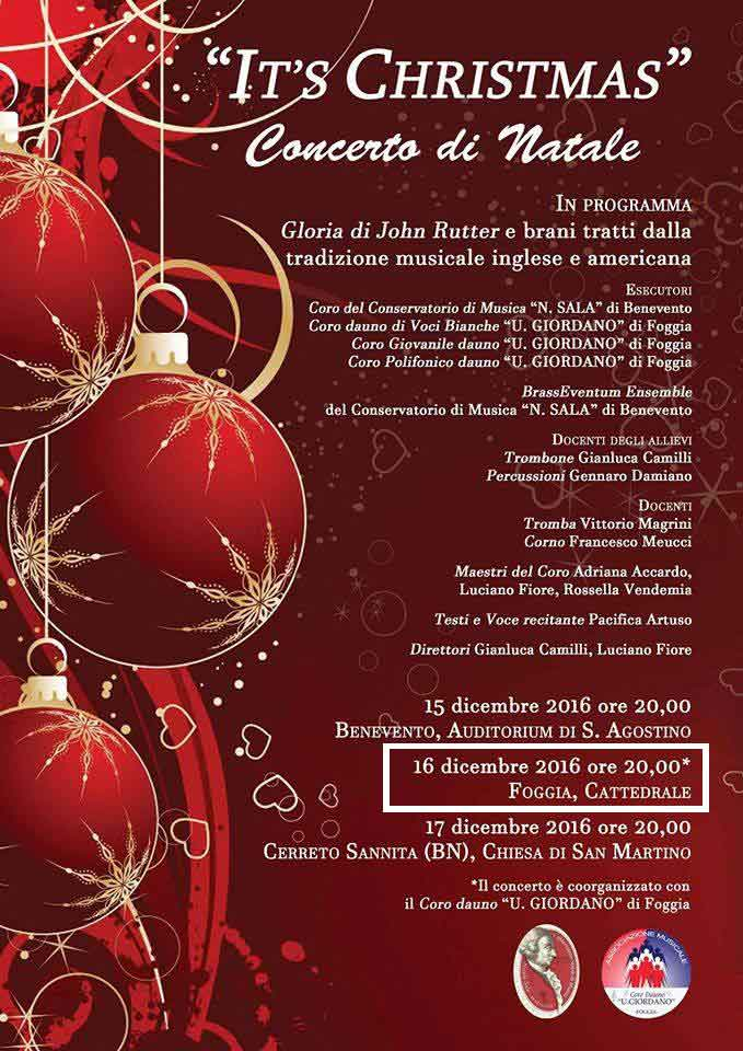 IT'S CHRISTMAS 2016 - 2° Concerto