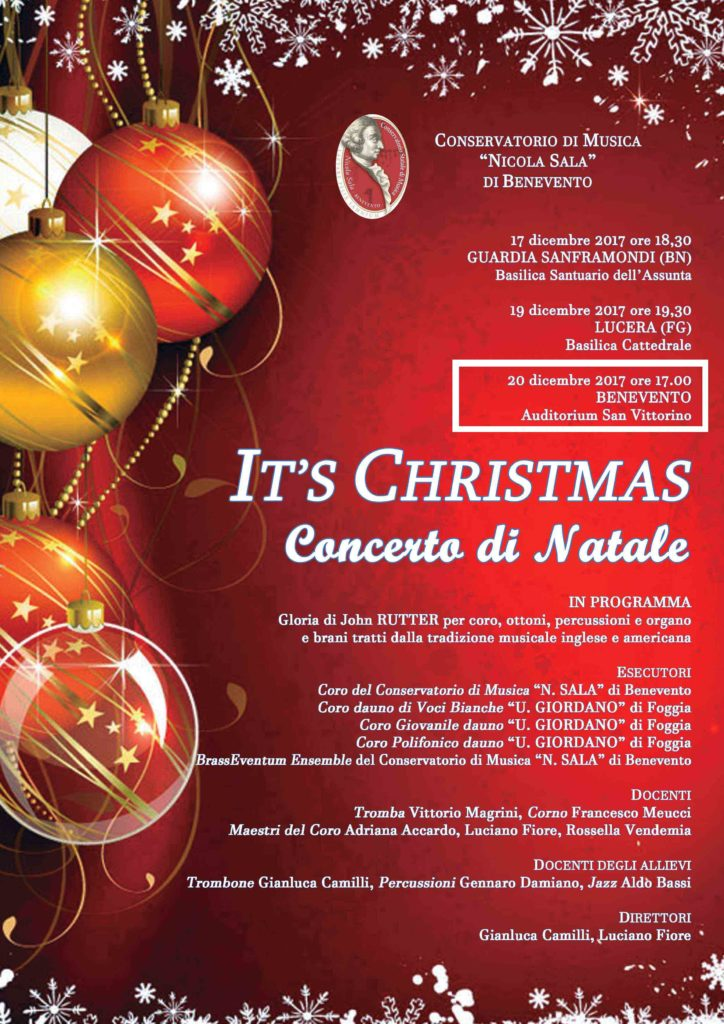 IT'S CHRISTMAS 2017 – BENEVENTO