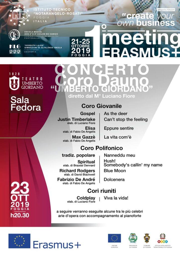 Concerto per Erasmus+